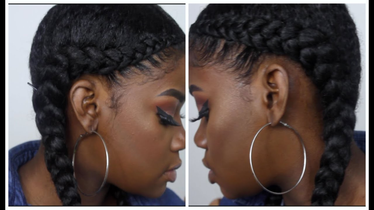 Two Braid Tutorial (With weave) - YouTube