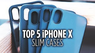 Check out the cases, links, and photos here: http://jer.fyi/top5iphonexslimcases The iPhone X is a well-designed phone that feels great in the hand. It also sports ...