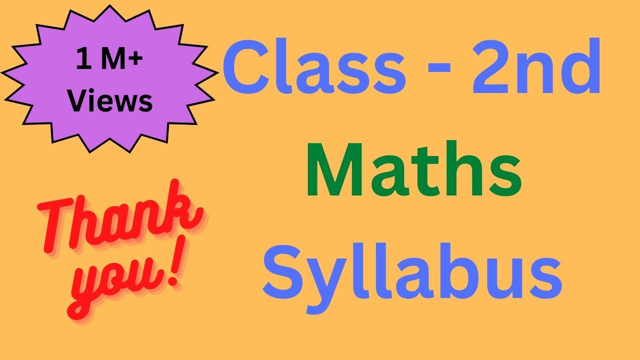 Download class 2 math syllabus | 2nd class maths syllabus | math worksheet for class 2 | grade 2 maths