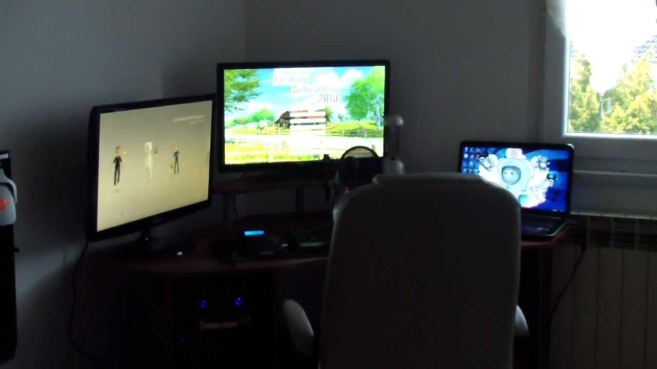 100e vid o vid o irl pr sentation de ma salle gaming for Pc de salon gamer