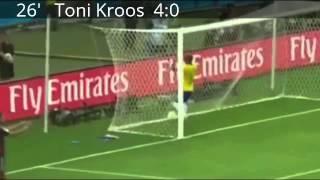 Brazil vs German ( 1-7 ) ALL GOALS !!! World Cup 2014 Semi Final