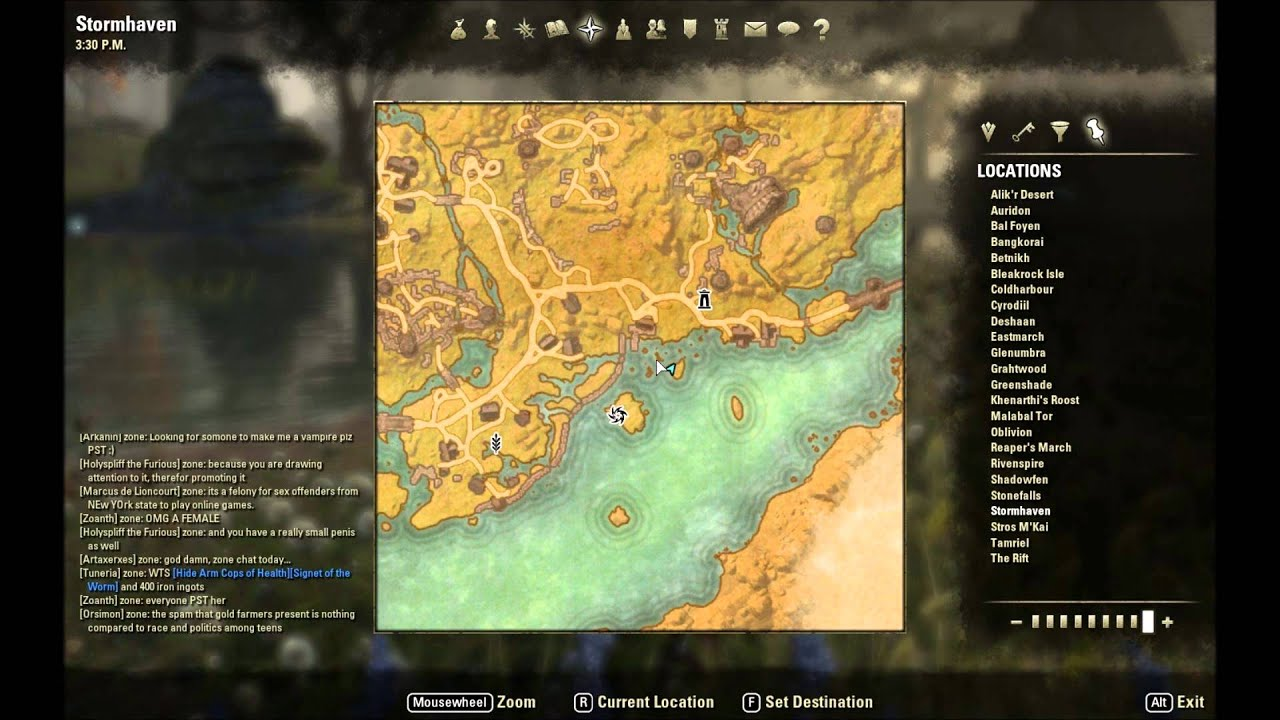 ESO: Stormhaven Treasure Map VI Location - YouTube