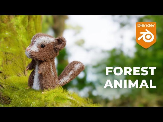 Лесной зверек в Blender