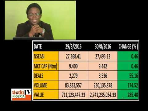 Stocks TV Nigeria: Nigerian stocks mkt closed in the green. Obabolujo takes a look at factors for