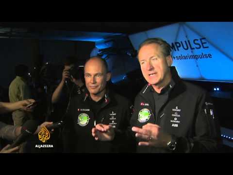 Solar plane aims for round-the-world flight