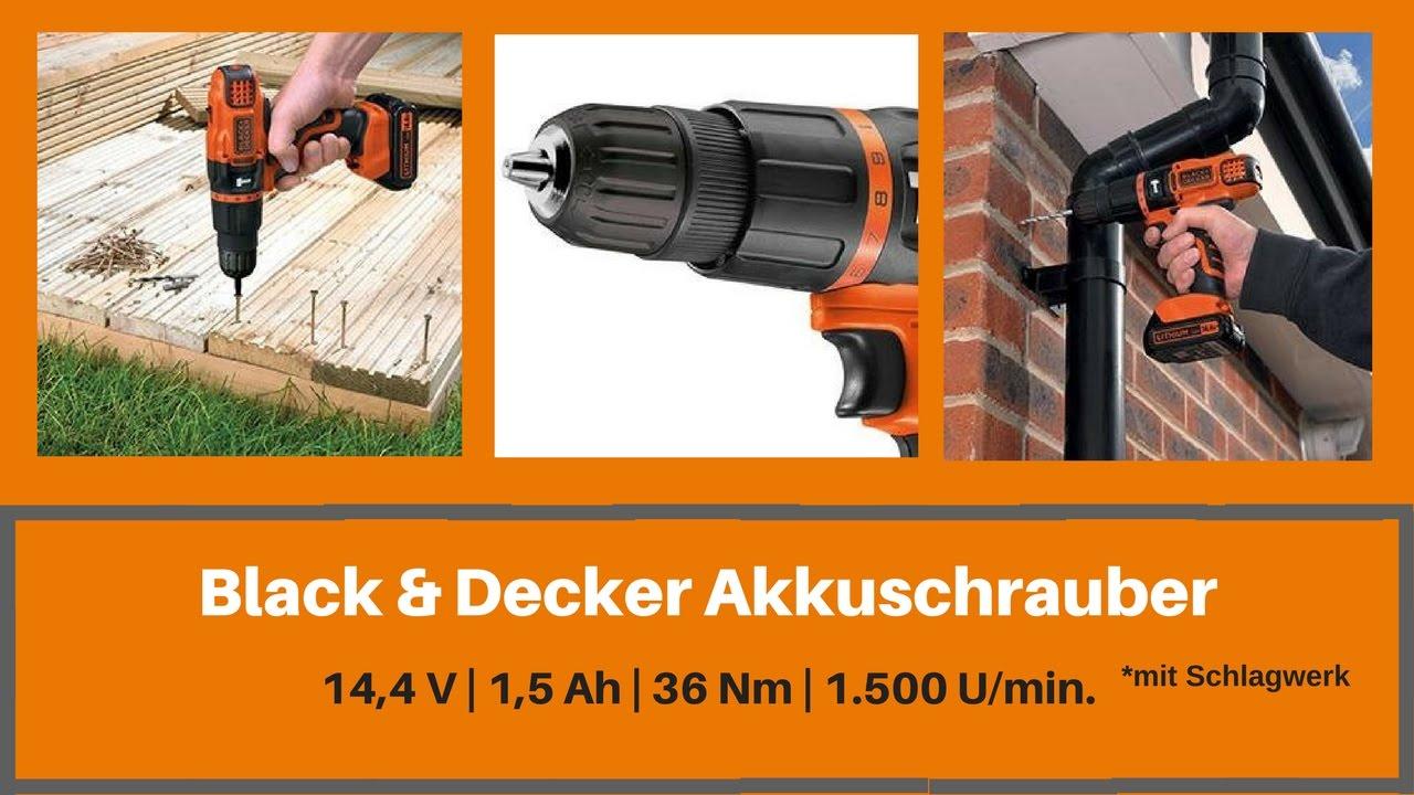 black decker akkuschrauber 14 4 v 1 5 ah schlagwerk youtube. Black Bedroom Furniture Sets. Home Design Ideas