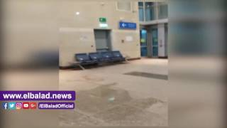 سقوط مياه من سقف مطار القاهرة الجديد بعد 5 شهور من تشغيله.. فيديو