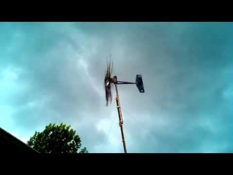 Wind turbine 20mph gust