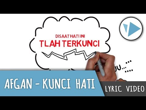 Afgan - Kunci Hati ( Lyric Video - Videoscribe )