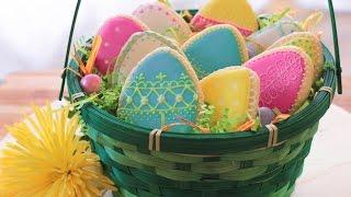 Айсинг. Как украсить простое печенье к Пасхе. Рецепт.