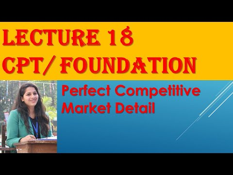 CA CPT Economics/ Foundation:- Perfect Competitive Market DETAIL