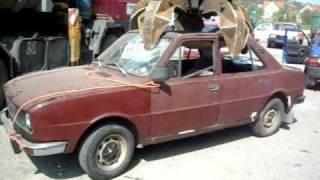 Škoda 120L (hnědá) jde do šrotu
