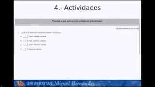"""Tutorial TICs Vicente Coves Mora """"Las categorías gramaticales"""""""