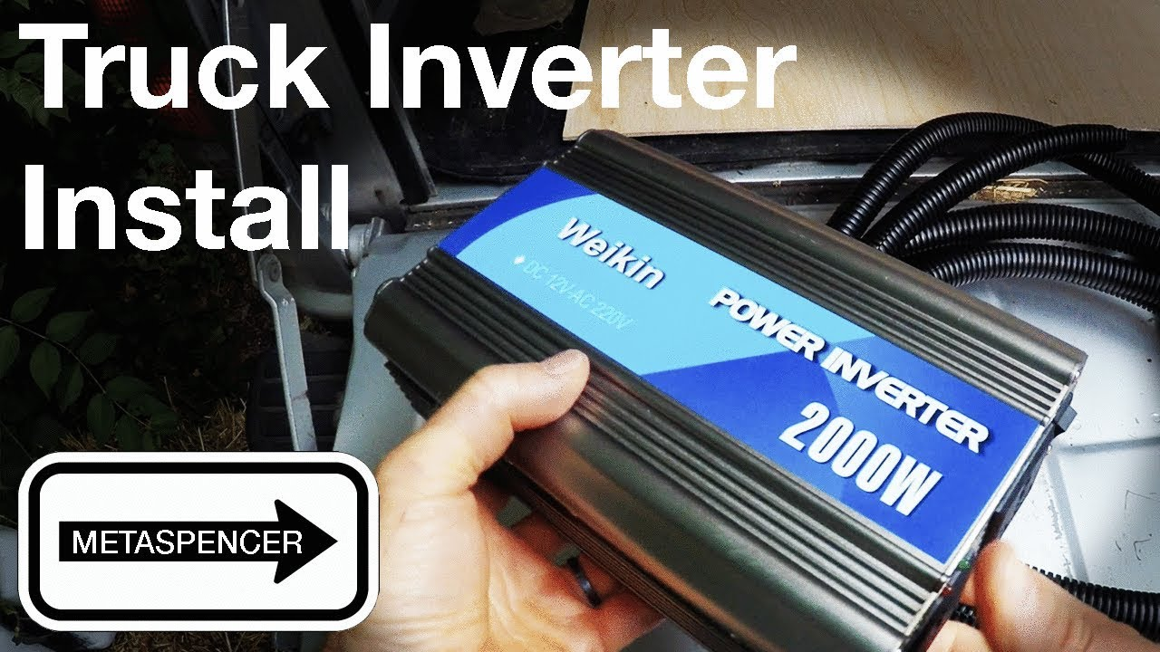 truck inverter install step by step how to [ 1280 x 720 Pixel ]