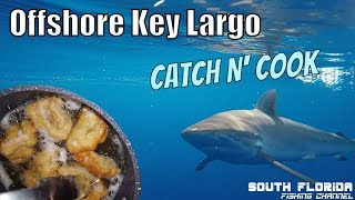 Fishing 17+ hours offshore Key Largo   Beer Battered Fish Catch N Cook