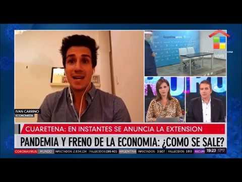 Iván Carrino en América Noticias (con tenso momento al final)