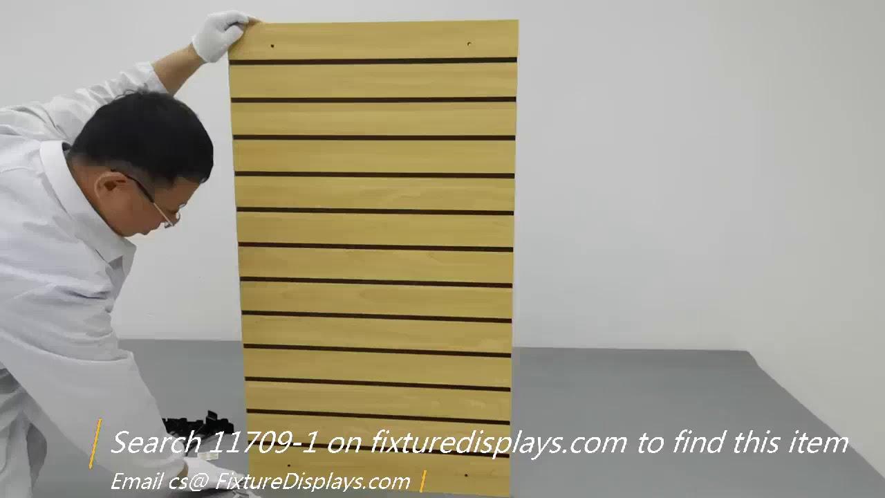 FixtureDisplays Slatwall Panel Retail Store Display Garage Tool Organizer Cloth Literature 11709-1-NEW-NPF!