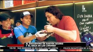 Gastón Acurio sorprendió al 'ninja de los limones' con un gran regalo