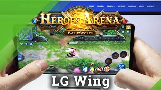 Test wydajności LG WING - Heroes Arena Gameplay