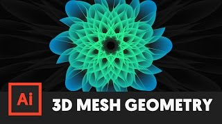 How to 3D Mesh Geometric Object in Illustrator CC (Tutorial) - T060