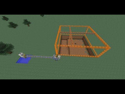 """""""Minecraft""""как построить карьер с помощью мода Buildcraft+бонус(ссылка на скачивание есть!)"""
