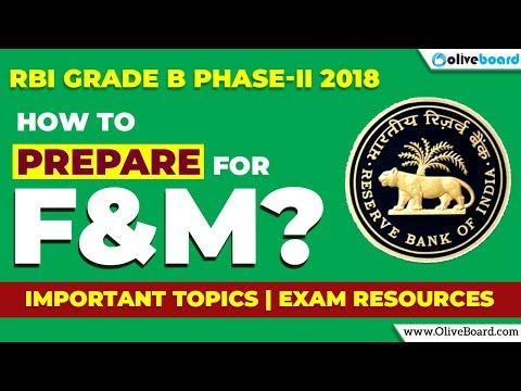 RBI Grade B 2018 | Phase - II | Finance & Management | Preparation Strategy , Exam Resources