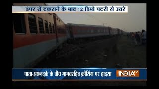 12 coaches of Kaifiyat Express derail in UP, 40 injured