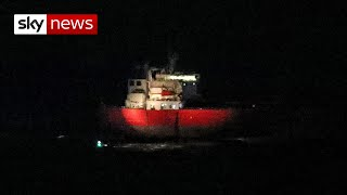 Seven people detained after special forces end suspected hijacking on tanker off Isle of Wight