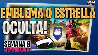 FORTNITE ESTRELLA OCULTA SEMANA 8 TEMPORADA 5 - Emblema oculto semana 8 temporada 5 fortnite