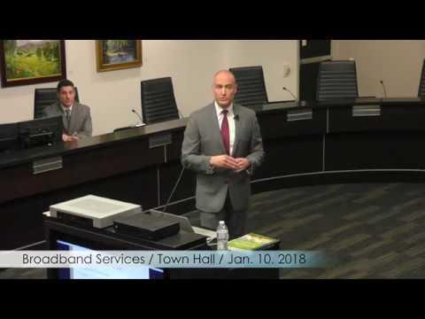 Broadband Improvement Project Town Hall Meeting January 10, 2018