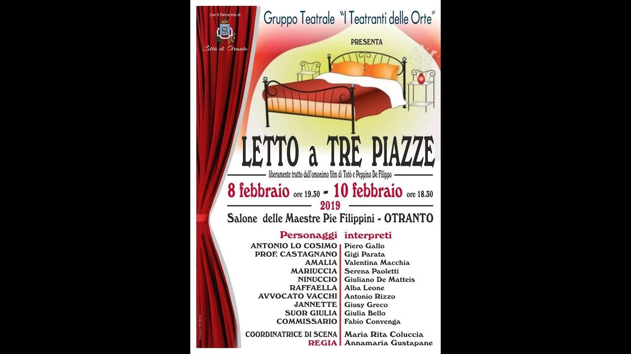 Letto Tre Piazze.Letto A Tre Piazze I Teatranti Delle Orte Commedia Inonda Webtv