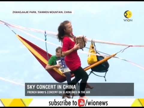 Sky Concert: French band Houle Douce amazes spectators in China