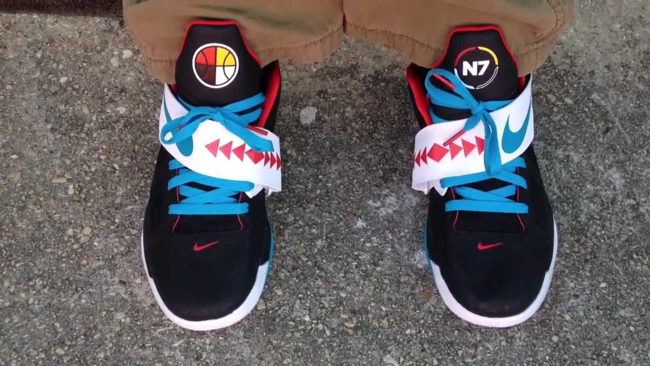 "Nike Zoom KD IV 4 ""N7"" ""Black"" on feet - YouTubeKd 4 On Feet"
