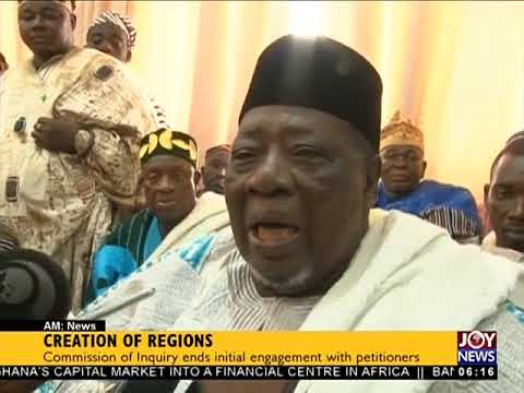 Creation of Regions - AM News on JoyNews (6-12-17)