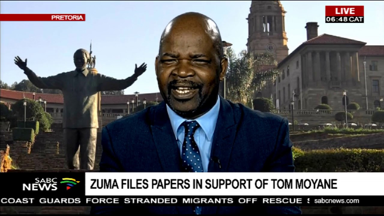 Zuma files papers in support of Tom Moyane