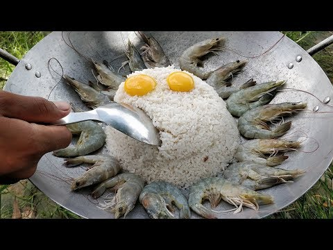 Tasty Rice Fried Egg | Egg Fried Rice Recipe | Shrimp And Rice Recipe