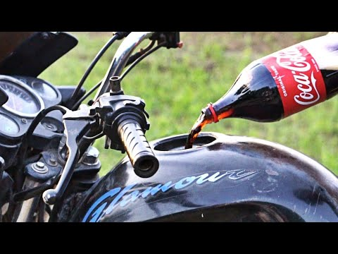 coca cola in bike fuel tank