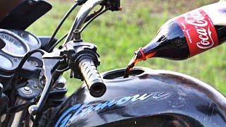 coca cola in bike fuel tank