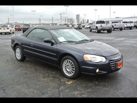 2004 Chrysler Sebring Lxi Convertible For Dayton Troy Piqua Sidney Ohio Cp14364a
