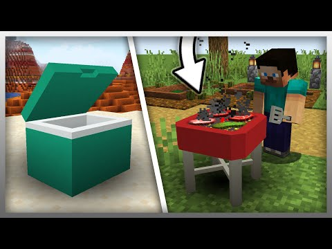 ✔️ NEW Grill And Cooler In MrCrayfish's Furniture Mod (Minecraft)