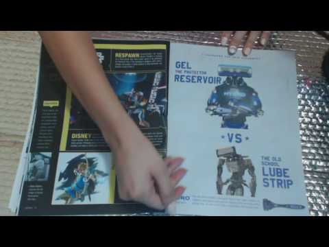 ASMR Gaming Magazine *page flipping* *rubbing* *tapping *scratching*overwatch*