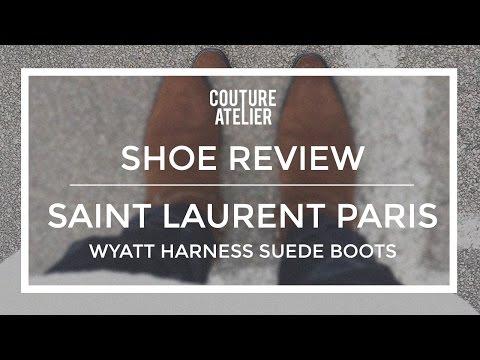 : Saint Laurent Paris F/W15 Classic Harness Suede Wyatt Boots