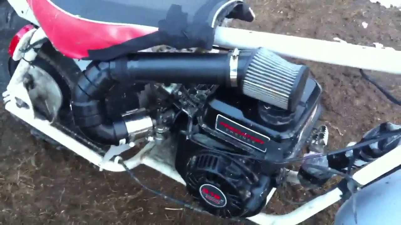 Mini baja full exhaust cold airintake / snorkel 212cc preda