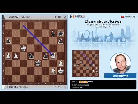 FIDE 2018 World Chess Championship - přímý přenos TIEBREAK - komentuje Robert Cvek