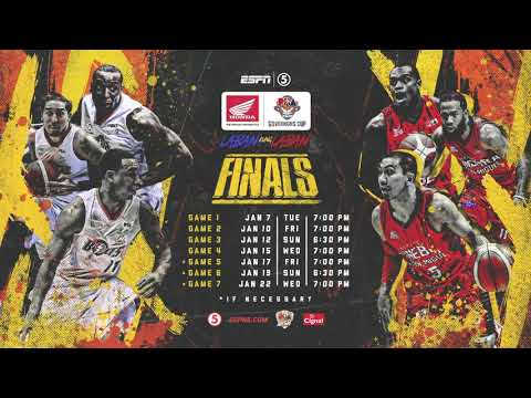 PBA Governors Cup 2019 | Finals Schedule