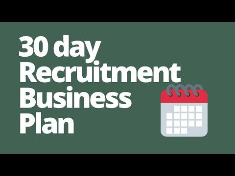 Startup Recruitment Agency Business Plan - First 30 days run
