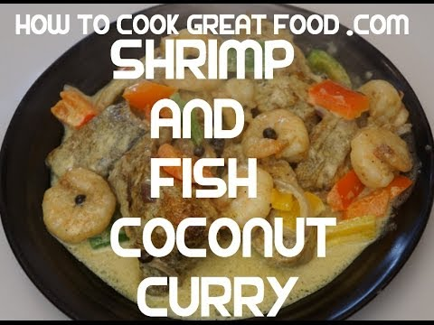 Jamaican Shrimp & Snapper fish Coconut curry recipe