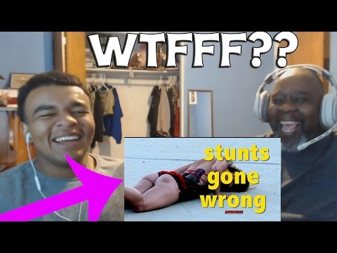 Dad Reacts to Stunts Gone Wrong Compilation (WARNING)