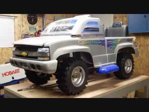 110cc 4 Wheeler Wiring Diagram 110cc Chevy Silverado Powerwheels Build Youtube