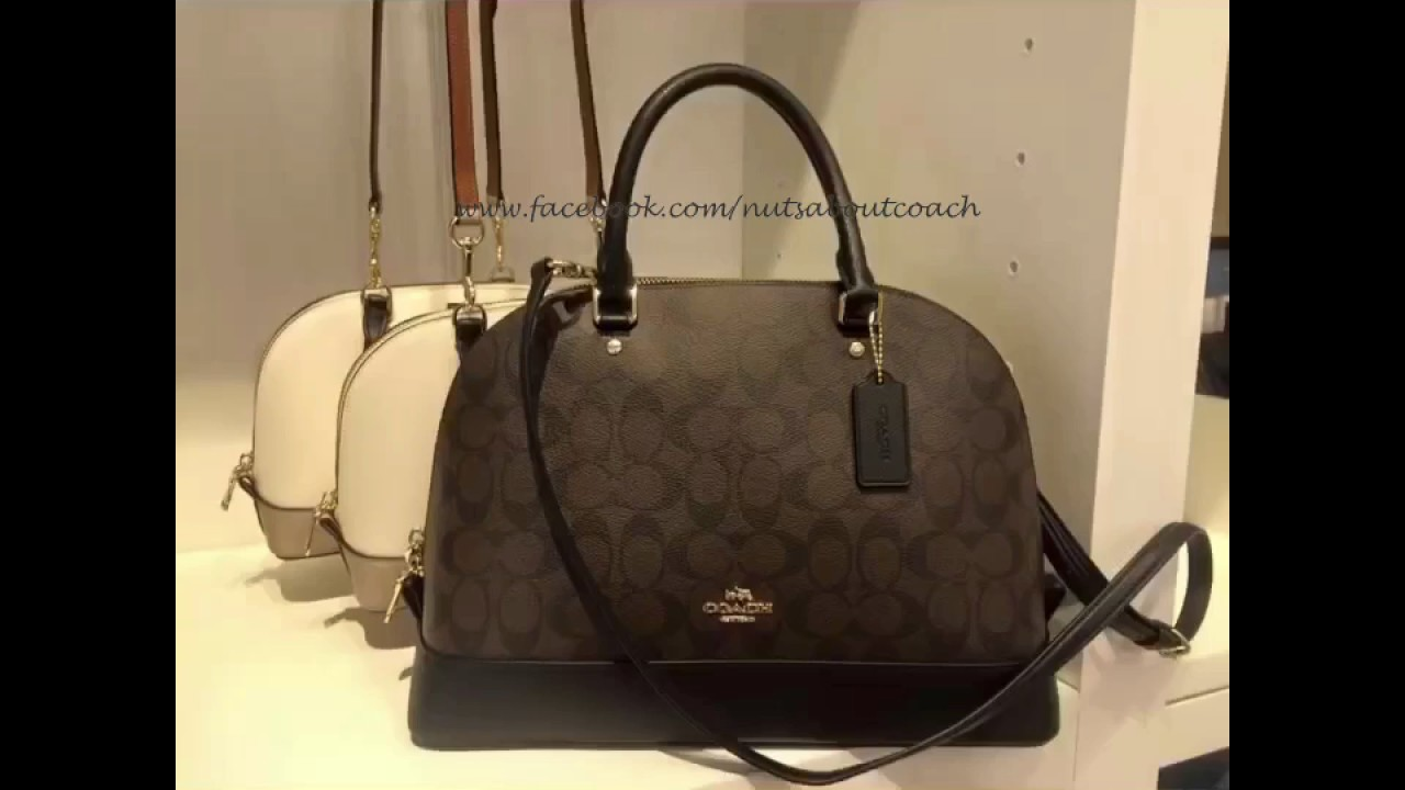 d90e9e3e745 COACH SIGNATURE PVC SIERRA 58287 SATCHEL - YouTube
